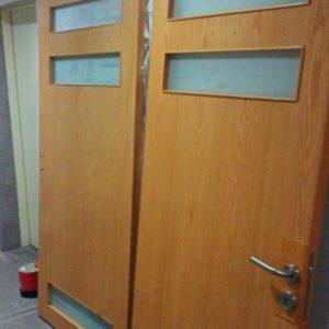 Puertas igualadas encino