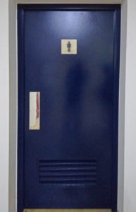 Puerta de acero para sanitarios