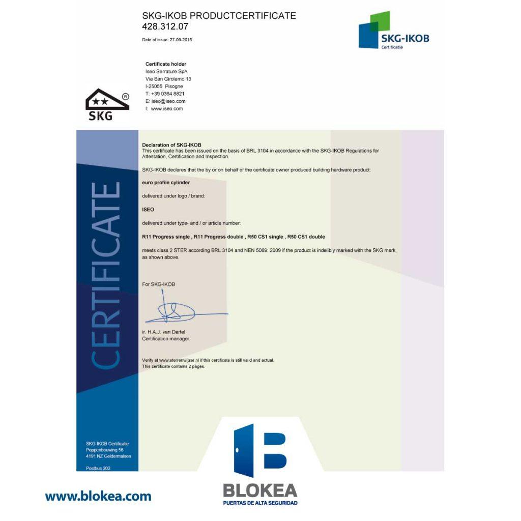 Certificado SKG