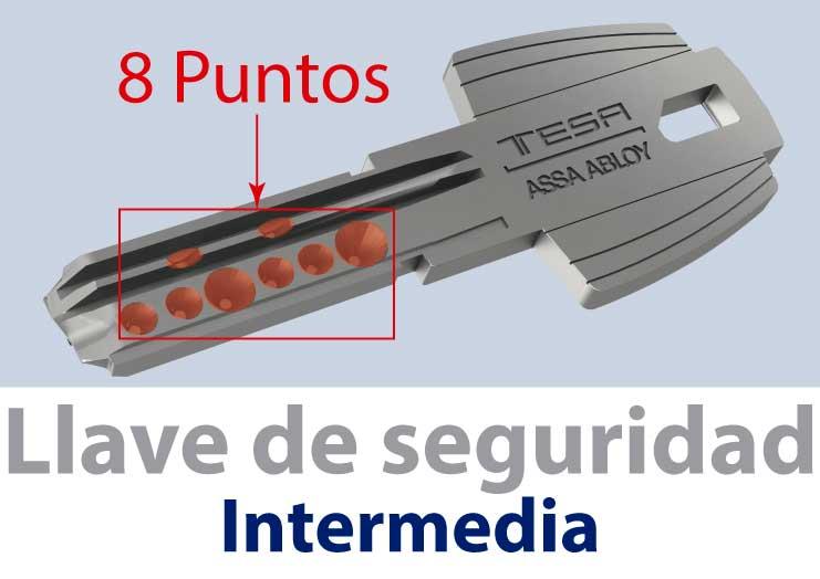 llave de seguridad intermedia